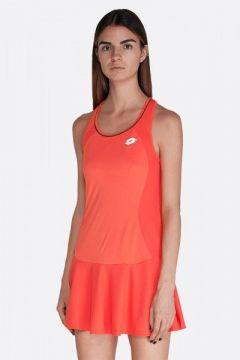 Теннисное платье женское Lotto SQUADRA W DRESS PLRED FLUO 210395/4M6(125487702)
