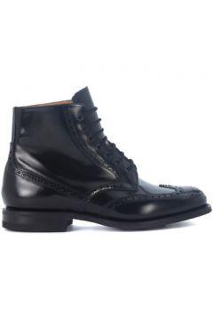Boots Church\'s Demi-botte Renwick en peau brossée noire(115458797)