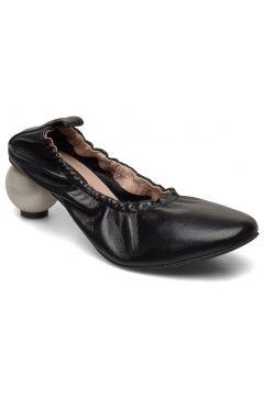 Beatrice Black Shoe With Pearl Heel Shoes Heels Pumps Classic Schwarz MOTHER OF PEARL(120603985)
