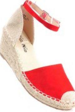 Pantofelek24.pl | Czerwone sandały espadryle na koturnie(112083017)