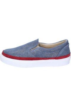 Chaussures 2 Stars slip-on bleu textile bordeaux daim ap715(98485768)