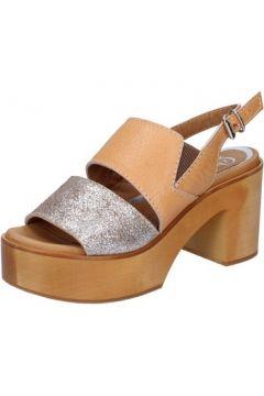 Sandales Qzed By Zamagni sandales marron cuir argent BZ857(115399045)