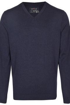 Marvelis - Pullover - Merinowolle - V-Ausschnitt - dunkelblau(107866637)