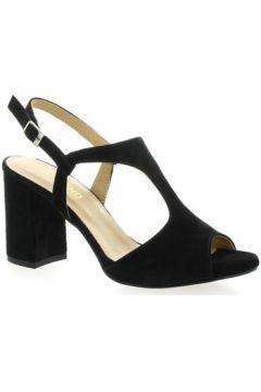 Sandales So Send Nu pieds cuir velours(127910104)