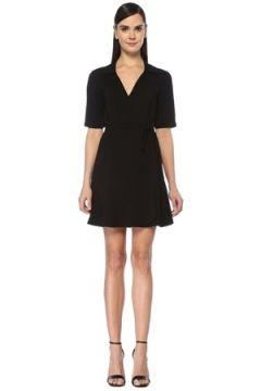 Academia Kadın Siyah V Yaka Mini Anvelop Krep Elbise 42(107373262)