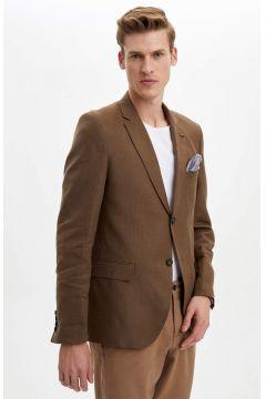 DeFacto Erkek Keten Modern Fit Blazer Ceket(119062347)