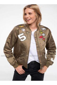 Khaki - Puffer Jackets - DeFacto(110325426)