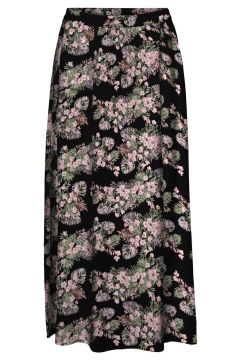 VERO MODA Taille Classique Jupe Longue Women black(116430849)