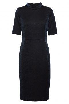 Dress Woven Fabric Kleid Knielang Schwarz GERRY WEBER(114165033)