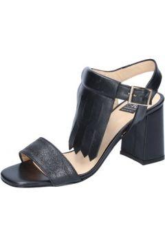 Sandales Islo sandales noir cuir BZ516(88470299)
