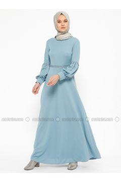 Blue - Crew neck - Unlined - Dresses - Laruj(110319690)
