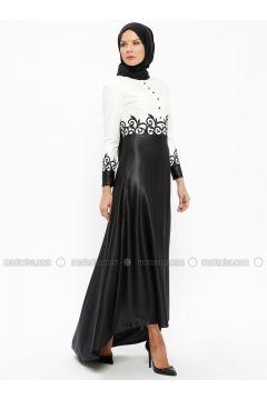 Black - Multi - Crew neck - Unlined - Dresses - AYŞE MELEK TASARIM(110319880)