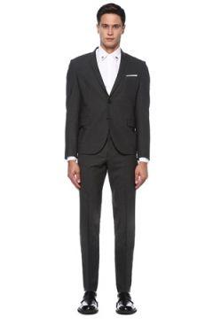 Neil Barrett Erkek Gri Kelebek Yaka Takım Elbise 46 IT(121108211)