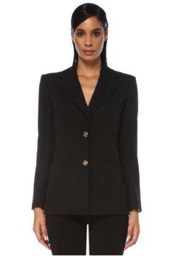 Versace Kadın Siyah Kelebek Yaka Yün Blazer Ceket 38 IT(120730930)