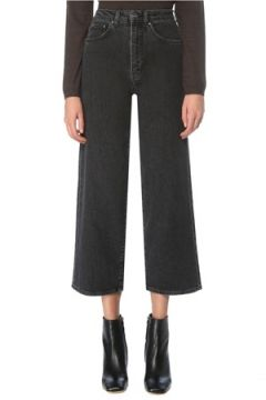 Toteme Kadın Gri Yüksek Bel Bol Paça Crop Jean Pantolon 26 US(126268303)