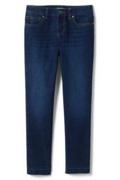 Iron Knees Skinny Jeans mit Fransensaum für Mädchen - Blau - 122/128 von Lands\' End(108056098)