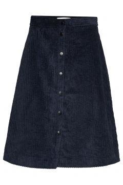 Corduroy Skirt Knielanges Kleid Blau JUST FEMALE(97060786)