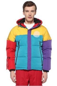 Billionaire Boys Club Erkek Colorblocked Kapüşonlu Puff Mont Sarı S EU(108579538)