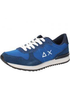 Chaussures Sun68 sneakers bleu textile daim AB797(115393863)
