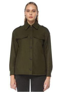 Allsaints Kadın Haki Gömlek Yaka Yün Ceket 0 US(124437956)