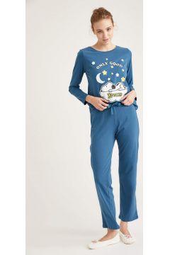 DeFacto Kadın Snoopy Lisanslı Uzun Kollu Pijama Takımı(125933753)