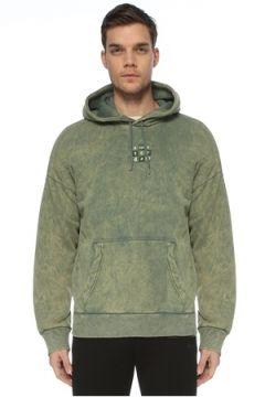 Bassigue Erkek Amsterdam Yeşil Kapüşonlu Sweatshirt S EU(125279124)
