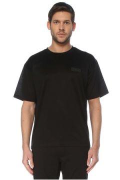 Valentino Erkek Siyah Logo Patchli T-shirt S EU(127364725)