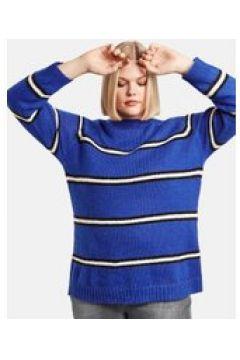 Sweter w paski Niebieski 54/XXL(115894499)