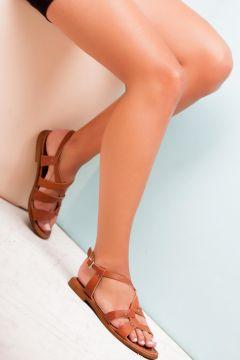 Deripabuc - Çeşme Deripabuc Hakiki Deri TABA Kadın Deri Sandalet(124974084)