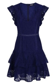 **Girls On Film Navy Frill Lace Dress(94906168)