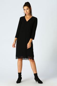 Beymen Studio Dantel Detaylı Siyah Elbise(113966254)