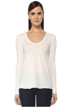 American Vintage Kadın Jacksonville Beyaz Uzun Kol T-shirt XS EU(109265185)