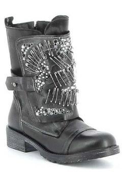 Boots Erman\'s Boots cuir avec lacets et sangle fantaisie(115403172)