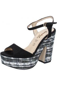 Sandales Geneve Shoes sandales noir daim BZ893(115399065)