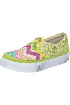Chaussures 2 Stars slip on jaune textile daim BZ524(115394005)