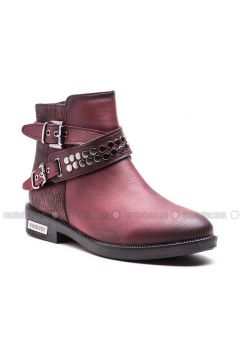 Maroon - Boot - Boots - Esem(110336603)