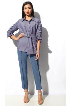 Комплект брючный Миа Мода 1154 синий с фиолетовым(115248694)