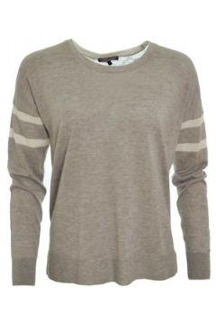 Pull Tommy Hilfiger Pull fin Ulima gris et blanc pour femme(88442627)