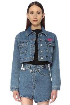 Gcds Kadın Bucket Cut Crop Jean Ceket Mavi S EU(113468139)
