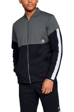 Under Armour 1344135-012 Athlete Recovery Knit Warm Up Top-Gry Erkek Zip Ceket(115295422)