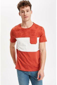 DeFacto Erkek Renk Bloklu Kısa Kollu T-shirt(108640266)