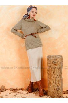 Beige - Unlined - Skirt - Muni Muni(110330513)