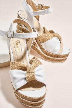 Bambi Beyaz Kadın Sandalet 09(109223473)
