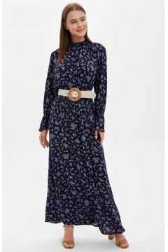 DeFacto Kadın Çiçekli Dokuma Elbise(119064363)