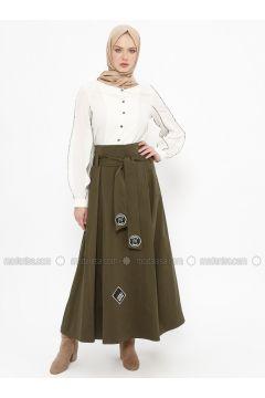 Khaki - Multi - Fully Lined - Skirt - Tekbir(110335653)