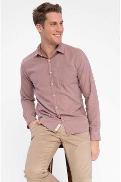DeFacto Erkek Tek Cepli Uzun Kollu Slim Fit Gömlek(108987022)