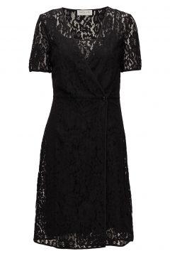 Dress Ss Kleid Knielang Schwarz ROSEMUNDE(114165059)