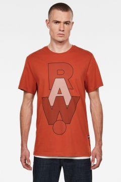 G-Star RAW Men RAW. Graphic T-Shirt Orange(118217284)