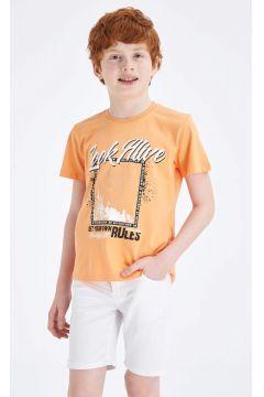 DeFacto Erkek Çocuk Şekil Değiştiren Baskılı Kısa Kollu T-Shirt(119060092)