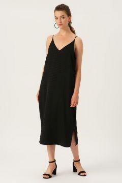 Vero Moda Askılı Siyah Uzun Elbise(113981018)